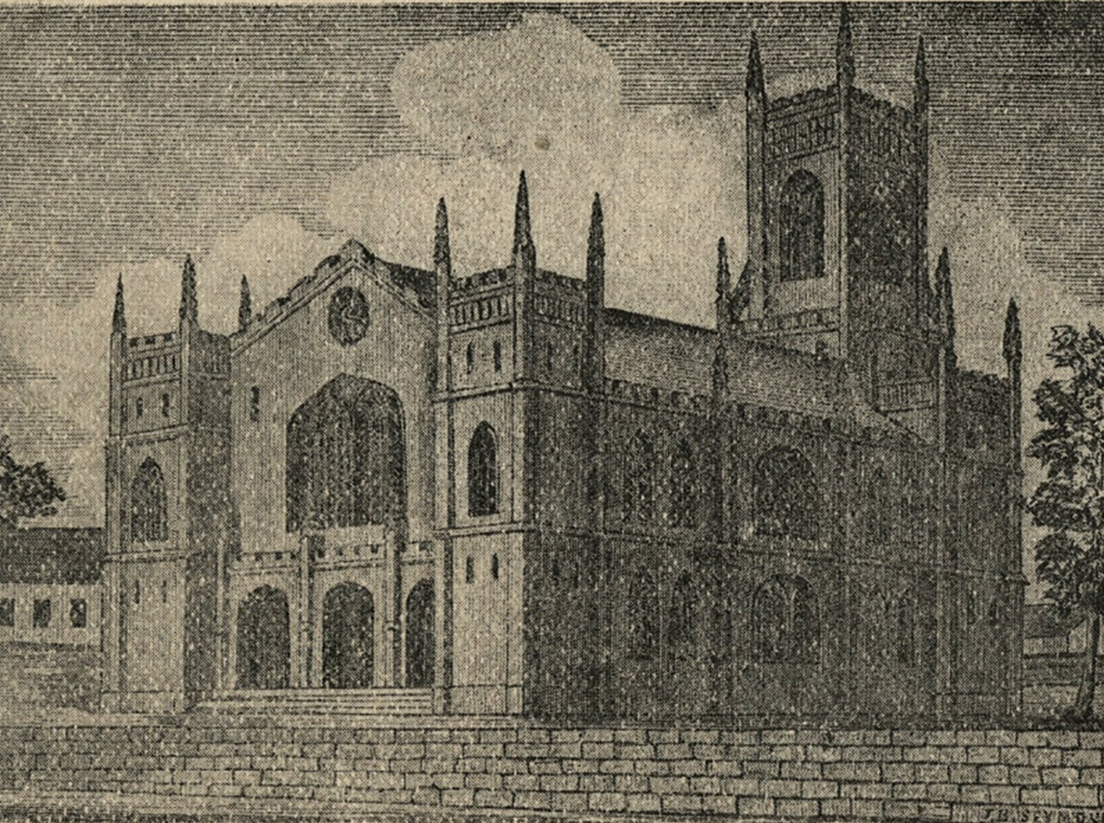 An illustration of the Old Trinity Protestant Episcopal Church