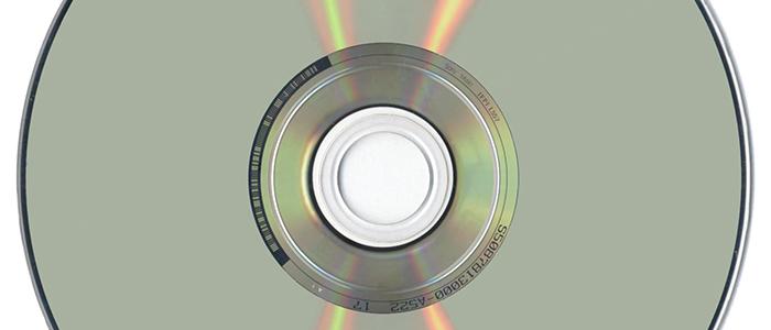Close up of DVD