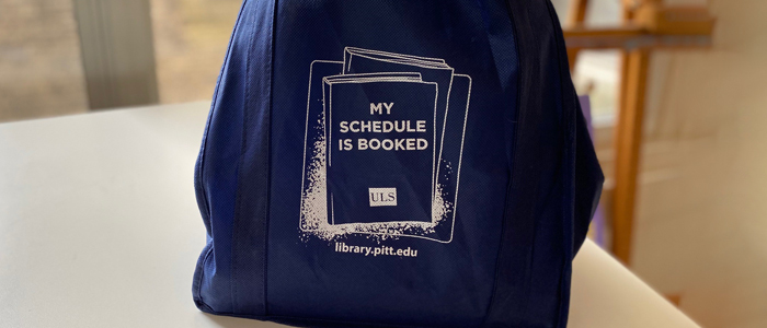 A bag of books from the No Contact Pickup service