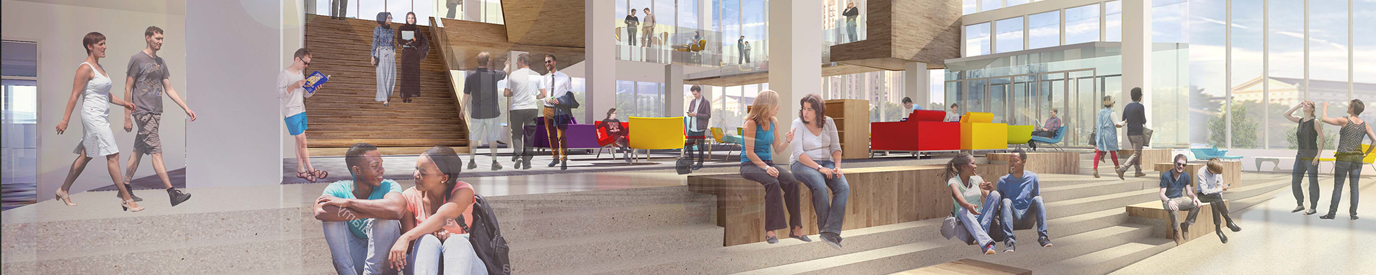 Proposed Hillman Library Ground Floor View
