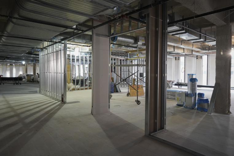 Hillman Library third floor in progress