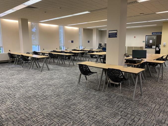 Owen Library Reopens with Additional Study Space