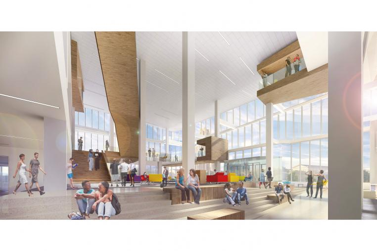 Rendering of Proposed Hillman Library Ground Floor