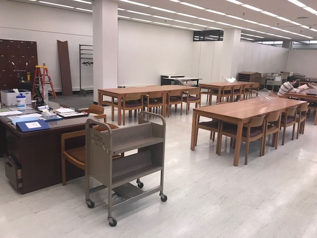 The Archives & Special Collections at Hillman's temporary new reading room on the ground floor