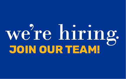 We're Hiring! Join our team!
