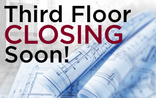 Third Floor Closing Soon Sign
