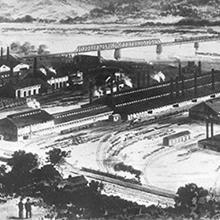1890 Homestead Steel Works Illustration